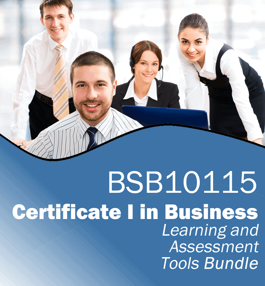 BSB10115 Certificate I in Business Learning and Assessment Tools Bundle.fw