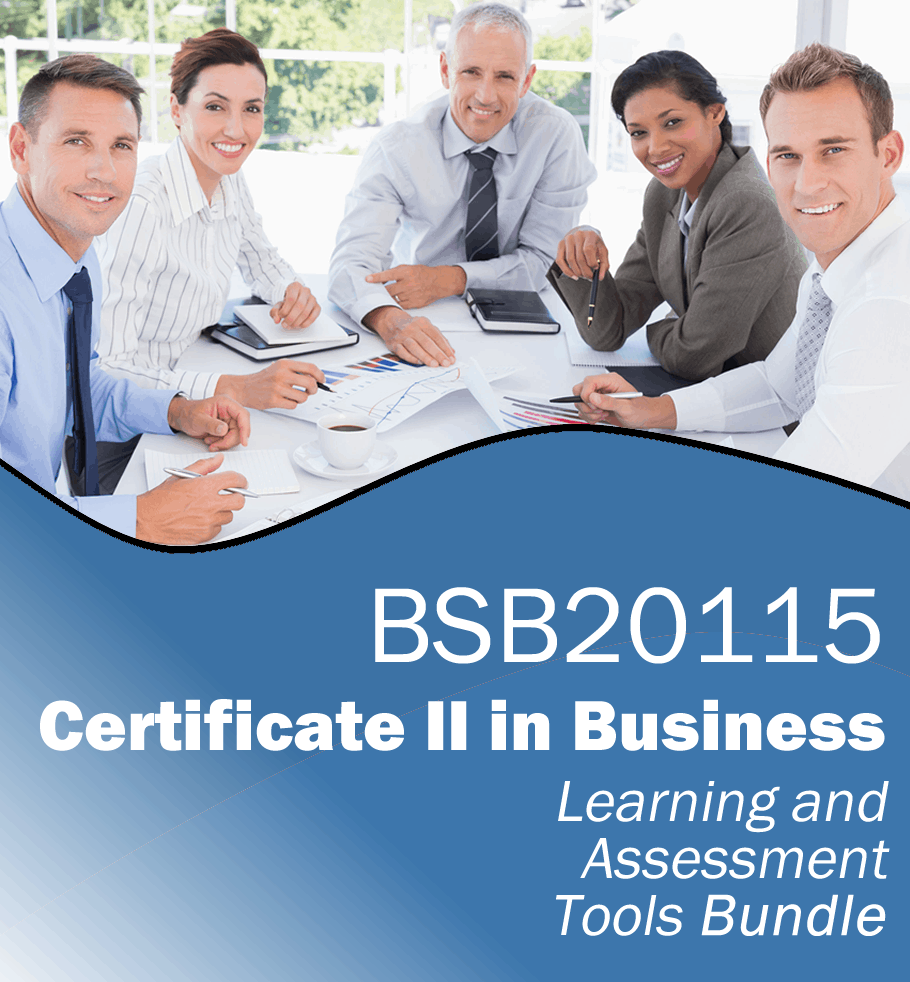 BSB20115 Certificate II in Business Learning and Assessment Tools Bundle
