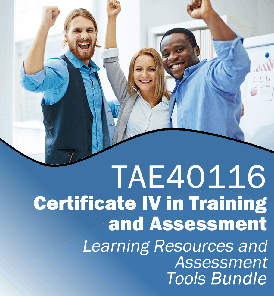 Tae40116 cert iv tae rto learning resources assessment tools learning and assessment tools bundle for tae40116 certificate iv in training and assessment xflitez Image collections