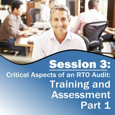 Session 3: Training and Assessment (Part 1)