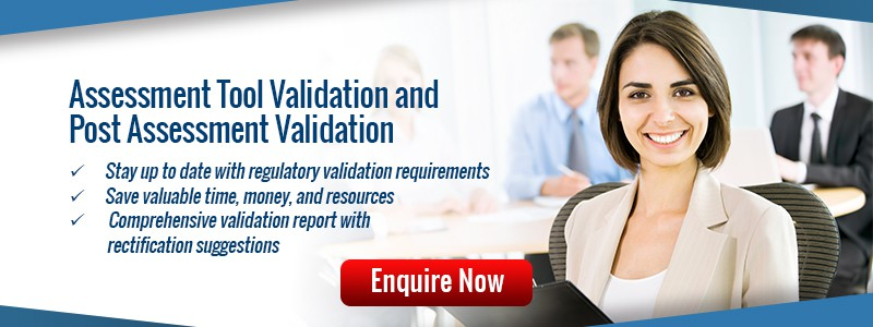 Assessment validation methods meeting current ASQA requirements
