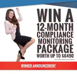 Winner announcement of 12-Month Compliance Management Package