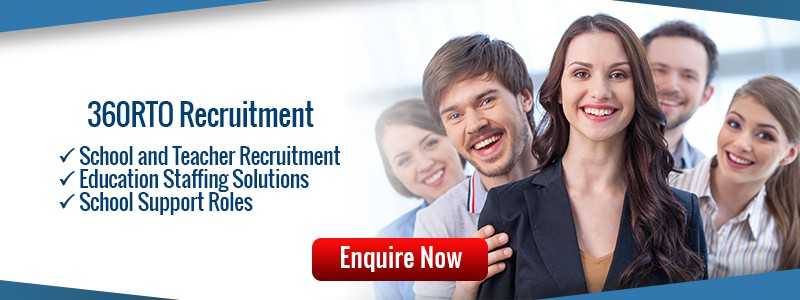 Find qualified teachers, school management and education support roles with 360RTO Recruitment