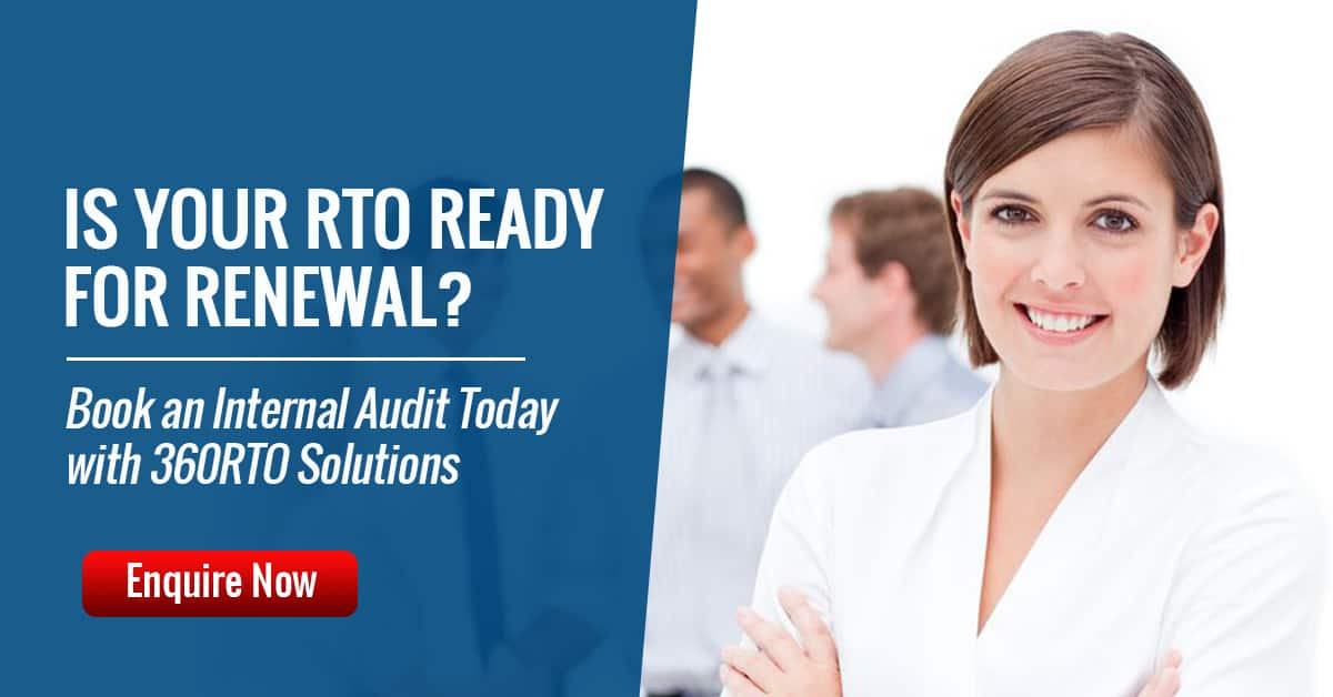 Book an RTO Re-registration Audit with 360RTO Solutions