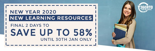New Year 2020, New Learning Resources - Final Week to Save Up To 58% - Until 30th Jan Only